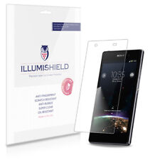iLLumiShield Phone Screen Protector w Anti-Bubble/Print 3x for Sony Xperia Z1S