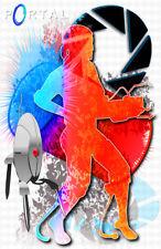 Portal Chell Gamer Art 11 x 17 High Quality Poster