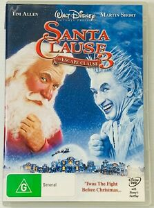 The Santa Clause 3 - Escape Clause (DVD, 2007) Region 4 PAL Free Postage