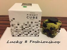 SALE NY SHIP Fidget Cube For Anxiety Stress Relief Focus Toys Green Camoflage