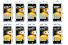 60 pile batterie DURACELL 10 PR70  per apparecchi  acustici protesi acustiche