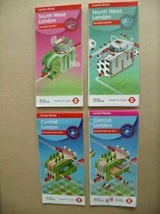 4 london transport bus maps 2012