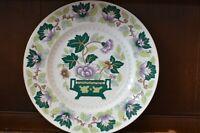 RIDGWAY Gorgeous Vintage Green and Purple Leaf Design Dinner Plate 28cm