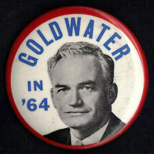 "1964 Barry Goldwater 3-1/2"" /  Presidential Campaign Button (pin 03)"