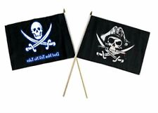 "12x18 12""x18"" Wholesale Combo Pirate Dead Men Tale & Deadman's Chest Stick Flag"