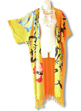 Mustard Plus Size Cardigan Duster Jacket Kimono Maxi Cover up - 2X, 3X, 4X & 5X