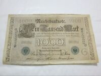 ORIGINAL 1000 MARK 1910 GERMAN BANKNOTE