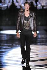 Mainline Roberto Cavalli Laser Cut Biker Leather Jacket EU48 Medium RRP £3200