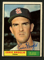 Ernie Broglio #420 signed autograph auto 1961 Topps Baseball Trading Card