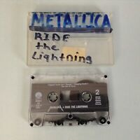 Metallica - Ride The Lightning CASSETTE TAPE 1984 Clear Tape Only