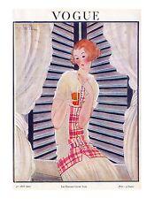 Vogue Paris Magazine, Reprint Aug 1922, Vol 4.13 Art Deco Fashion Drawings 1920s