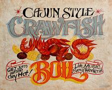 Crawfish Boil Shack  Print vintage  style carolina seafood louisianna mudbugs