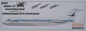 Welsh Models CLS72/14 - McDonnell Douglas DC-9-31 NORTH CENTRAL - 1:72 Model Kit