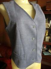 Medium sz 14 True Vtg 70s Heather Gray Acrylic Stretch Knit Boho Vest Top