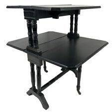 Petite table gateleg en bois noirci, Napoléon III