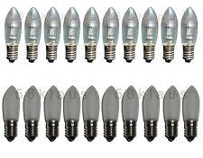 10 LED E10 Glühbirne Topkerze Spitzkerze Riffelkerze Ersatz warmweiß E10 0,2W