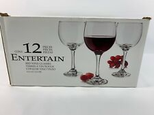 New Libbey 12 Piece Red Wine Cocktail Glasses Party Bar Kitchen Favors Wedding