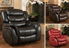 Leather Glider Recliner Club Arm Chair Recliners Armchair Lazy Armchairs Gliders