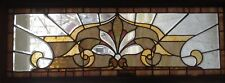 Stained Beveled And Jeweled Glass Window