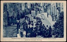 cartolina ACCUMOLI processione della madonna addolorata sulla via s.tommasi