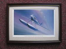 Charles J. Thompson Aircraft print 'Supermarine's Speed Machine' FRAMED