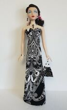 GENE Doll Clothes Handmade Gown, beaded Purse & Jewelry Set Fashion NO DOLL d4e