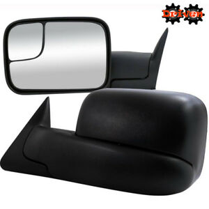 Manual Towing Extended Flip Up Side Mirrors 94-01 Dodge Ram 1500 2500 3500
