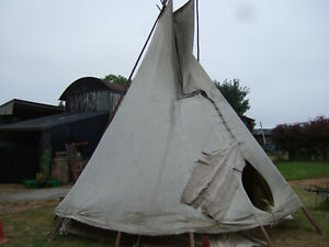 Tipi.Teepee.Not used much but has had cooking fires in it,designed for this.18 F