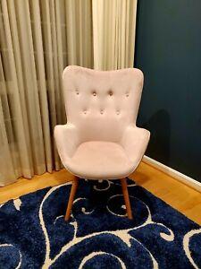 Roundhill Furniture Doarnin Contemporary Silky Velvet Tufted Button Back Accent