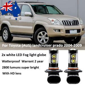 For 2004-2009 Toyota landcruiser prado Fog Light Bulb LED Globes 6000k White 2pc