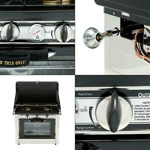 outdoor double burner propane gas range and stove