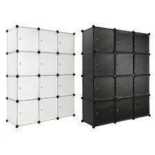 Steckregal mit Türen Schrank Regal Kunststoff Kleiderschrank Schuhregal