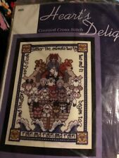 "Heart's Delight 005 Noah's Ark 6"" x 8"" Counted Cross Stitch Kit New in Pkg."