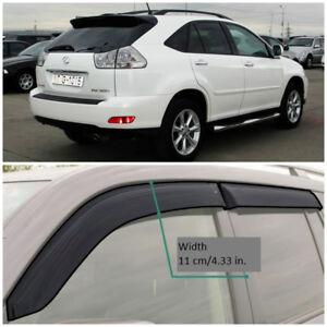 LE20103 Window Visors Sun Guard Vent Wide Deflectors For Lexus RX II 2003-2009