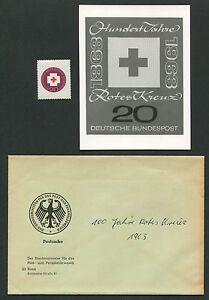 GERMANY PHOTO-ESSAY 400 ROTES KREUZ 1963 RED CROSS PROOF RARE!! e499