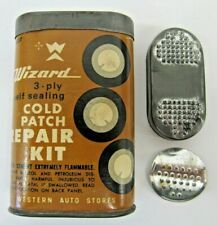 Vintage Western Auto Part Store Wizard Cold Patch Tire Inner Tube Repair Kit USA