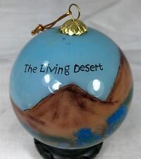 Inside Painted Glass Christmas Ornament Living Desert Cactus Mountains Flowers
