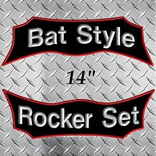 Custom Embroidered Rocker Patches Biker Motorcycle MC Club Top Bottom Tags Bat