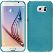 Silicone Case for Samsung Galaxy S6 brushed blue + protective foils