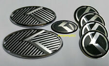 7pcs/set 3D sticker black&white K logo badge emblem for KIA OPTIMA K5 2011-2015