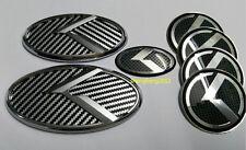 7pcs/set 3D sticker black&white K logo badge emblem for KIA OPTIMA K5 2011-2016