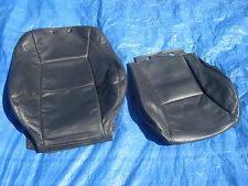 02-05 Saab 9-5 Aero Charcoal Driver Left Side Leather Seat Covers 2 Peices Rare!