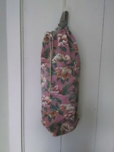 Vtg. GAP Single strap Floral Drawstring Sling Bag Soft Pink, Cream and Khaki