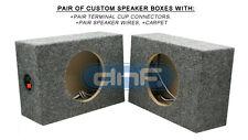"1 PAIR CUSTOM 6-1/2"" SQUARE SPEAKER BOX - FREE SAME DAY PRIORITY/ UPS SHIPPING!"