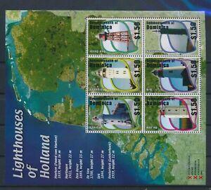 LN81319 Dominica Netherlands lighthouses good sheet MNH