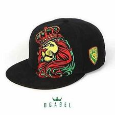 OGABEL Og Abel Crown Rasta Lion Shield Tattoo Inked Skater Snapback Hat Cap