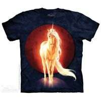 Last Unicorn T-Shirt by The Mountain. Fantasy Moon Horse Equine Sizes S-5X NEW
