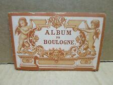 BOULOGNE SUR MER (62) album dépliant de vues en chromolithographie vers 1880