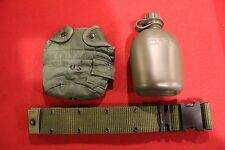 MILITARY SURPLUS WEB BELT 1 QT CANTEEN HIKING CAMP GEAR BACKPACK SURVIVAL EDC