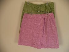 Womens Skirt Skorts. First Issue. 2 Together. Pink and Green. 10. 100% Cotton.